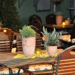 Mediterane Tischdekoration Bianca's Blumenstil